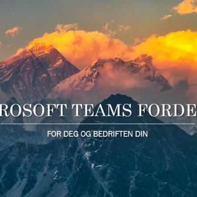 Fordeler med Microsoft Teams