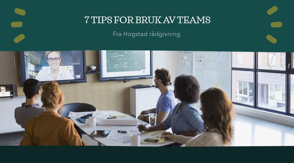 7 ting du kan bruke Teams til.