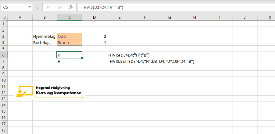 Excel Hvis