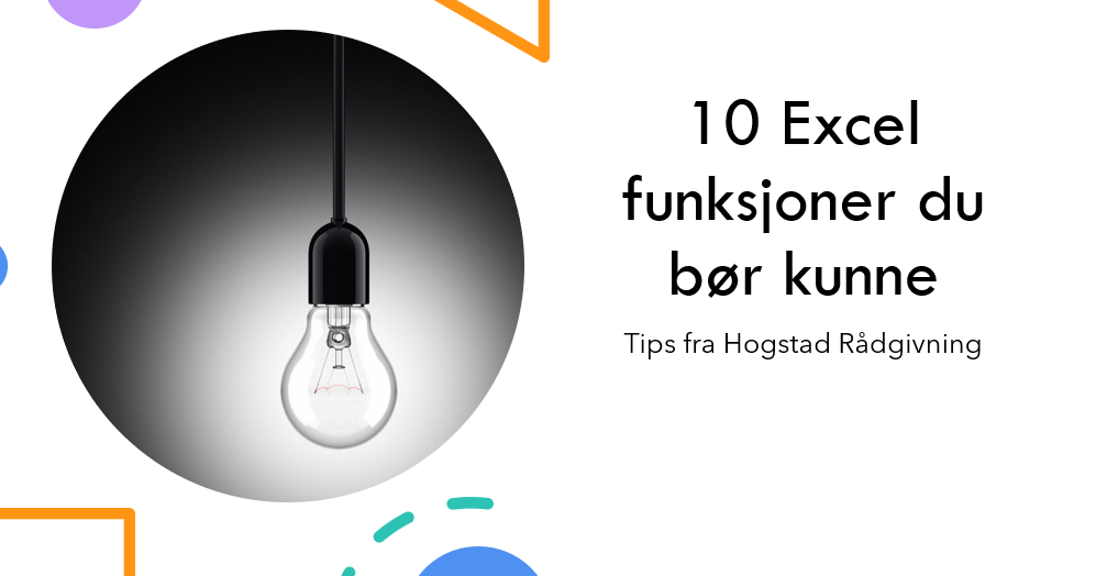 10 excel funksjoner