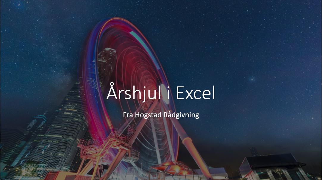 Årshjul i Excel