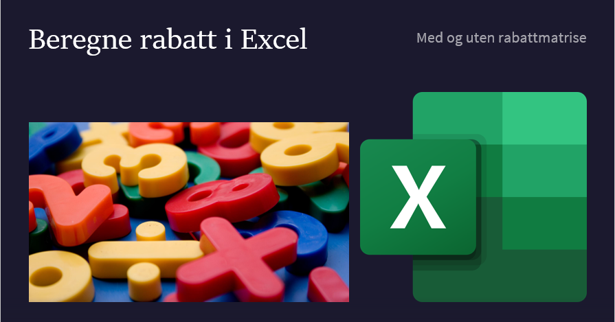 Regne rabatt i Excel