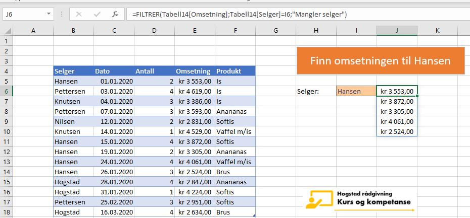 finn flere verdier i Excel