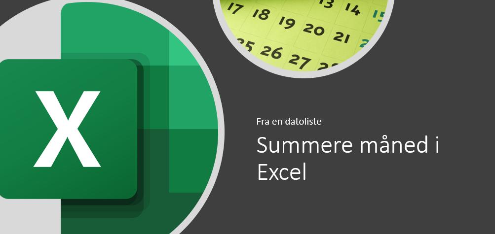 Summere måned i Excel
