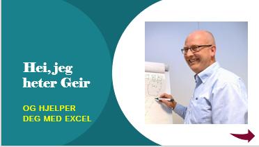 Excel konsulent Geir Hogstad