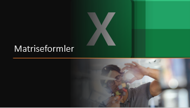 Matriseformler i Excel