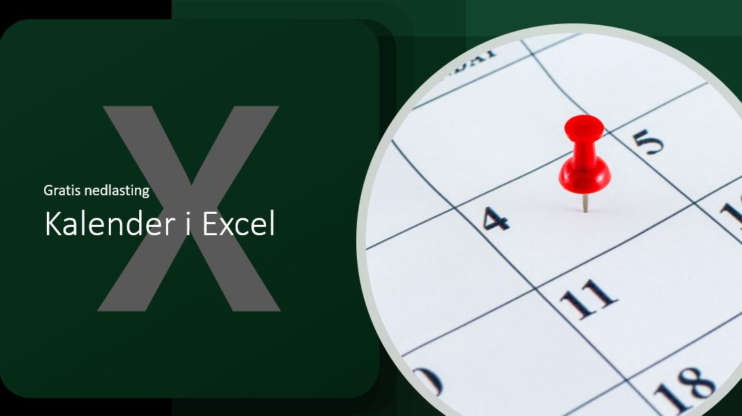 Ukekalender med ukenummer i Excel