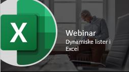 Dynamiske lister webinar
