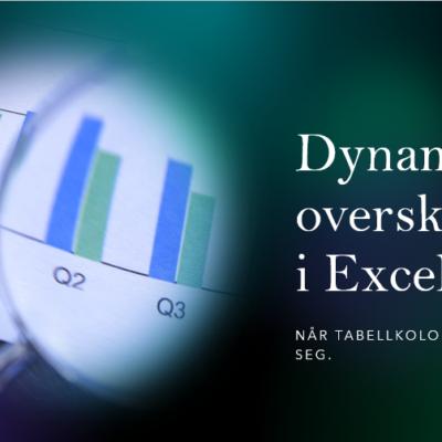 Finne riktig kolonne i Excel.