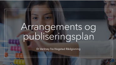 Excel arrangements og publiseringsplan