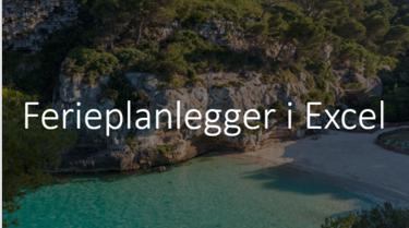 Excel ferieplanlegger