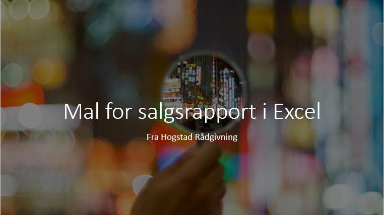 mal for salgsrapport i Excel