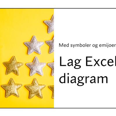 Lage et Excel diagram med symboler og emojier.