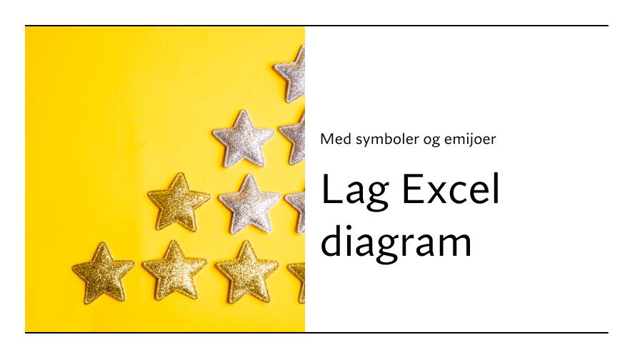 Excel diagram med symboler og emojier