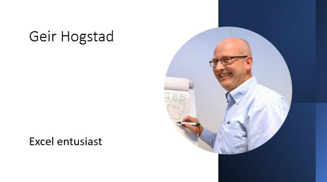 Geir Hogstad Excel entusiast