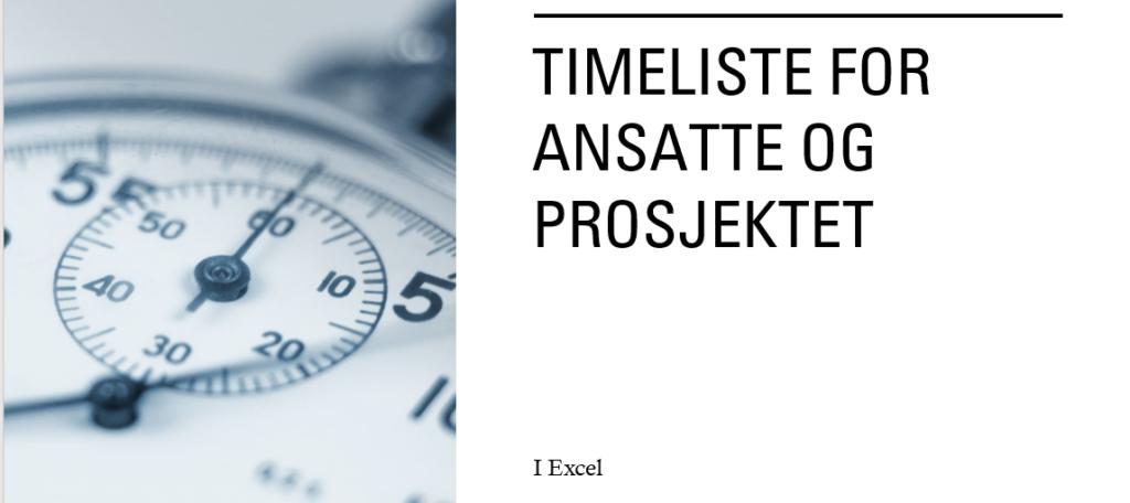 Timeliste prosjekter i Excel
